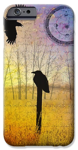 Judy Wood Digital Art iPhone Cases - Spread the Word iPhone Case by Judy Wood