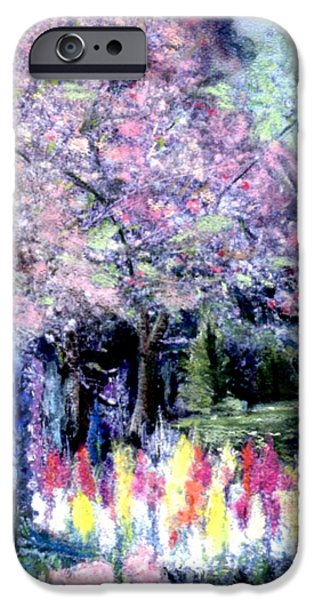 Cherry Blossoms Pastels iPhone Cases - Spring @ Huntington Library iPhone Case by Sherri Trout