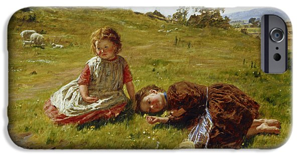 Meadow Photographs iPhone Cases - Spring, 1864 Oil On Canvas iPhone Case by William McTaggart