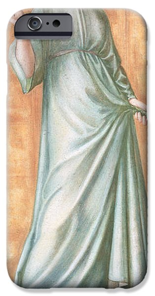 Pres iPhone Cases - Spring, 1869-70 Gouache On Paper iPhone Case by Sir Edward Coley Burne-Jones