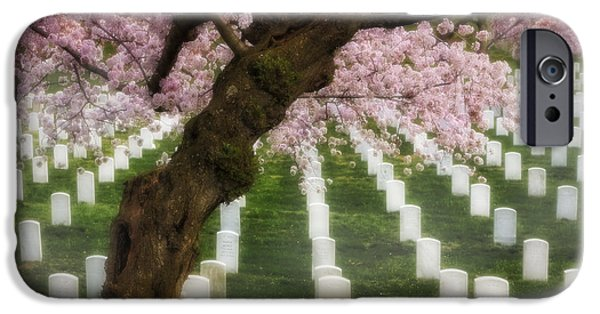 D.c. iPhone Cases - Spring Arives At Arlington National Cemetery iPhone Case by Susan Candelario