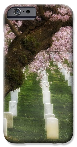 Spring Arives At Arlington National Cemetery iPhone Case by Susan Candelario