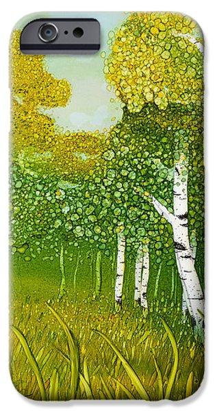 Spring Aspen iPhone Case by Wendy Wilkins