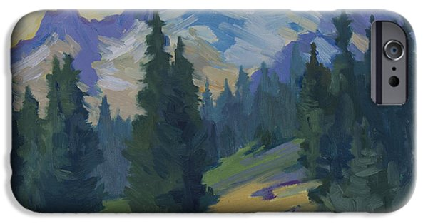 Pines iPhone Cases - Spring at Mount Rainier iPhone Case by Diane McClary