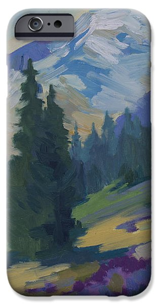 Spring at Mount Rainier iPhone Case by Diane McClary