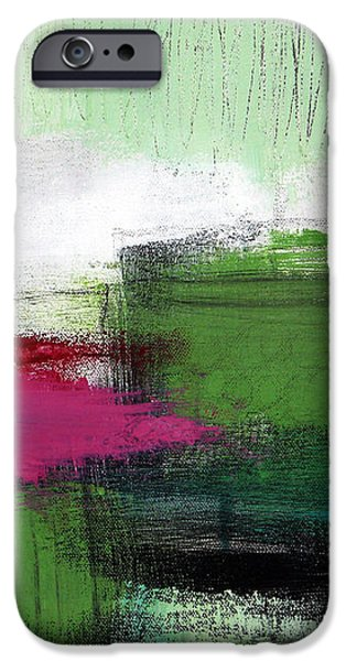 Spring Became Summer- Abstract Painting  iPhone Case by Linda Woods