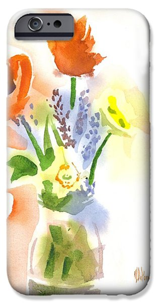Interior Still Life iPhone Cases - Spring Bouquet II iPhone Case by Kip DeVore