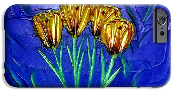 Floral Reliefs iPhone Cases - Spring Bouquet iPhone Case by Kenneth Clarke