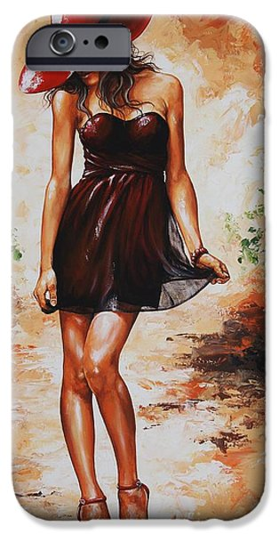 Impressionism Mixed Media iPhone Cases - Spring breeze 04 iPhone Case by Emerico Imre Toth