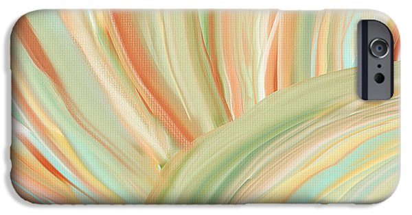 Light Blue Abstracts iPhone Cases - Spring Colors iPhone Case by Lourry Legarde