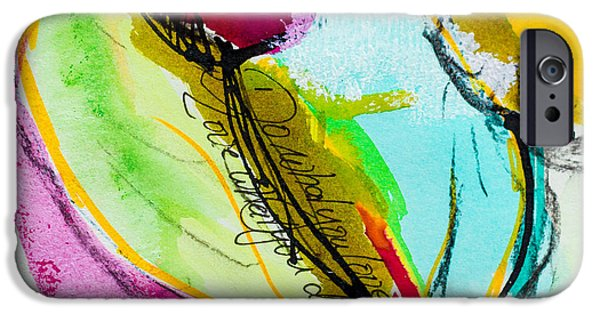 Airbrush Mixed Media iPhone Cases - Spring Colours Ii iPhone Case by Viaina