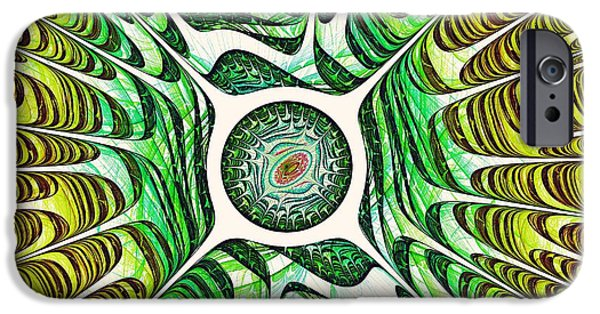 Decorative Digital Art iPhone Cases - Spring Dragon Eye iPhone Case by Anastasiya Malakhova