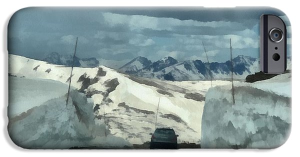 Snow Melt iPhone Cases - Spring Drive On Trail Ridge Road iPhone Case by Dan Sproul
