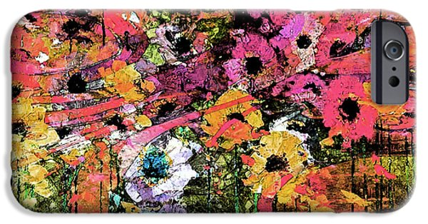 Best Sellers -  - Abstract Digital Mixed Media iPhone Cases - Spring Eternal iPhone Case by Catherine Harms