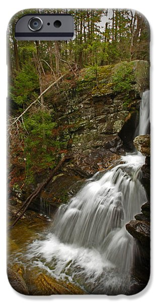 Kent Connecticut iPhone Cases - Spring Falls iPhone Case by Karol  Livote