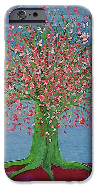 First Star iPhone Cases - Spring Fantasy Tree by jrr iPhone Case by First Star Art
