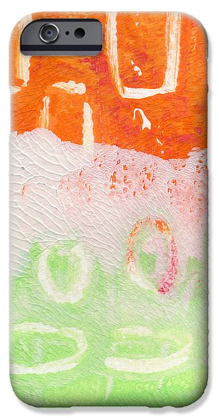 Contemporary Abstract iPhone Cases - Spring Flower Market- Abstract Painting iPhone Case by Linda Woods