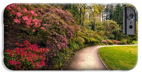 Walkway Digital Art iPhone Cases - Spring Footpath iPhone Case by Adrian Evans