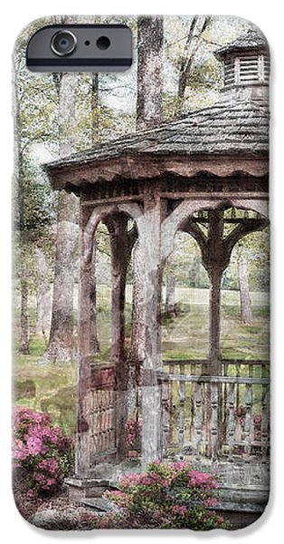 Spring Gazebo painteffect iPhone Case by Debbie Portwood