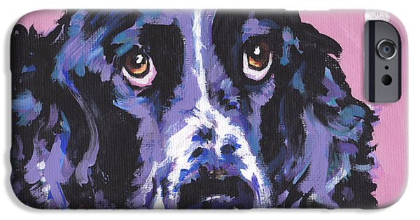 Springer Spaniel iPhone Cases - Spring Has Sprung iPhone Case by Lea