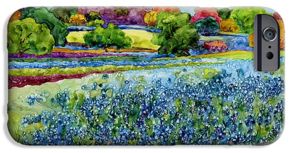 In Bloom Paintings iPhone Cases - Spring Impressions iPhone Case by Hailey E Herrera