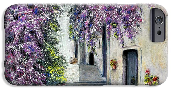 Village Pastels iPhone Cases - Spring in Andalucia iPhone Case by Rosemary Colyer