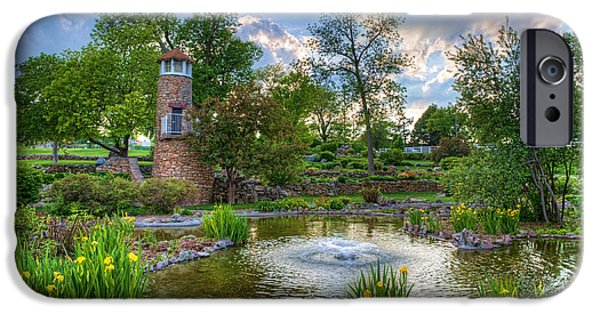 Lighthouse iPhone Cases - Spring in Harmon Park iPhone Case by Kerri Garrison