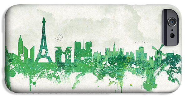 Europe Mixed Media iPhone Cases - Spring in Paris France iPhone Case by Aged Pixel