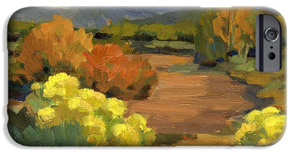 Spring iPhone Cases - Spring in Santa Fe iPhone Case by Diane McClary