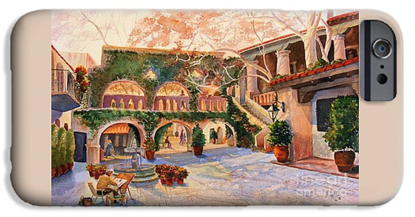 Sedona iPhone Cases - Spring In Tlaquepaque iPhone Case by Marilyn Smith