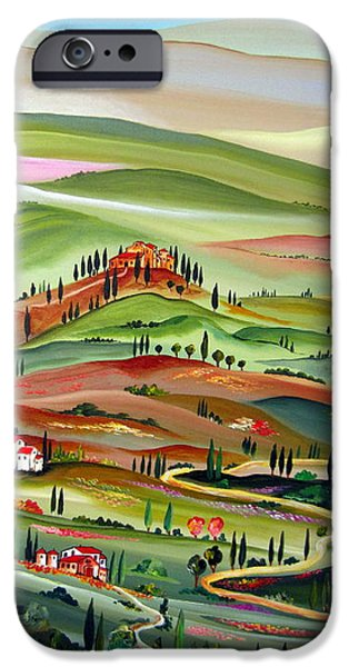 Roberto Paintings iPhone Cases - Spring in Val D Orcia Toscana iPhone Case by Roberto Gagliardi
