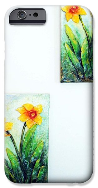 Original Sculptures iPhone Cases - Spring is Here iPhone Case by Raya Finkelson