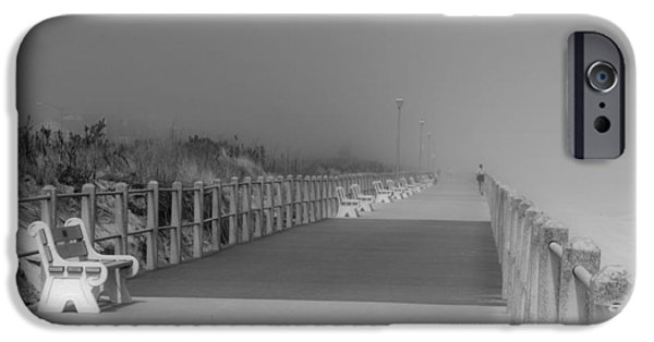Spring Scenery iPhone Cases - Spring Lake Boardwalk - Jersey Shore iPhone Case by Angie Tirado