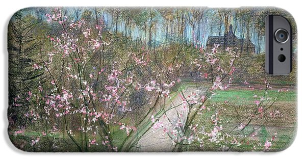 Blossom Photographs iPhone Cases - Spring Landscape iPhone Case by Jenny Montigny