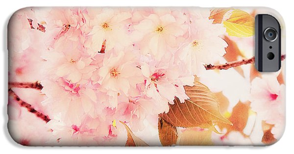 Cherry Blossoms Mixed Media iPhone Cases - Spring love iPhone Case by Angela Doelling AD DESIGN Photo and PhotoArt