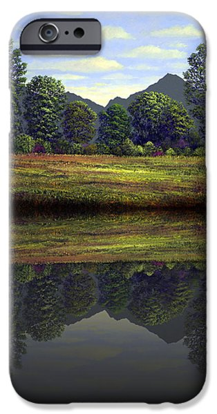 Reflection In Water iPhone Cases - Spring Meadow At Sutter Buttes Reflection iPhone Case by Frank Wilson
