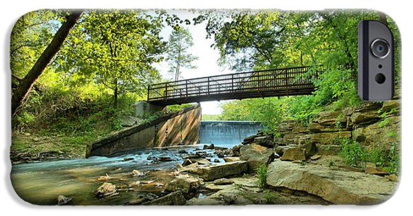 Indiana Springs iPhone Cases - Spring Mill Bridge iPhone Case by Adam Jewell