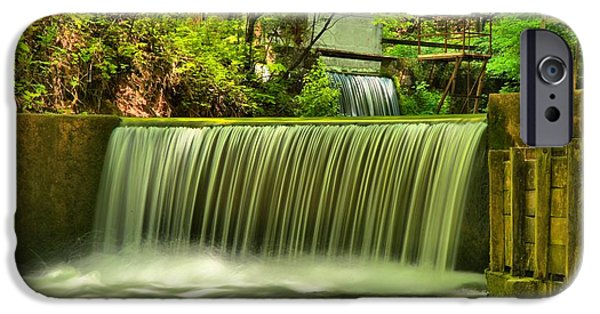 Indiana Springs iPhone Cases - Spring Mill Spillway iPhone Case by Adam Jewell