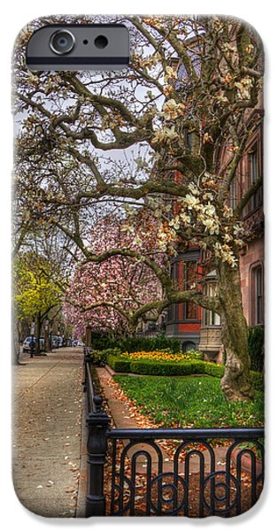 Scenic Boston iPhone Cases - Spring on Commonwealth Avenue - Boston iPhone Case by Joann Vitali