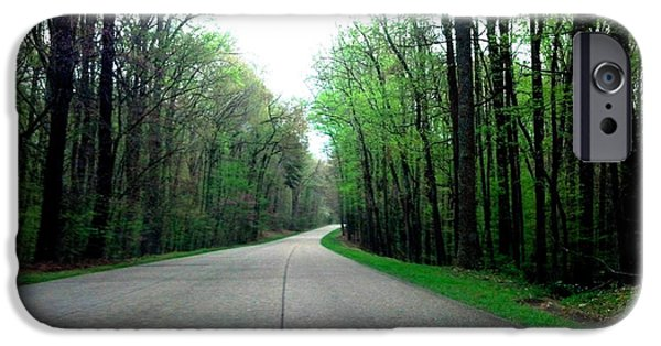 Colonial Parkway iPhone Cases - Spring on the Colonial Parkway iPhone Case by Nancy Comley