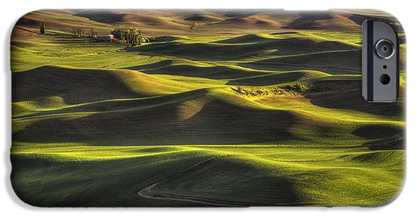 Crops iPhone Cases - Spring on the Palouse iPhone Case by Mark Kiver