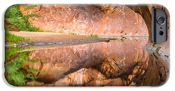 Oak Creek iPhone Cases - Reflective Memories iPhone Case by Barbara Newby
