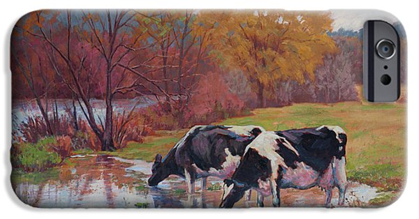 Recently Sold -  - Willow Lake iPhone Cases - Spring Pastoral iPhone Case by Keith Burgess