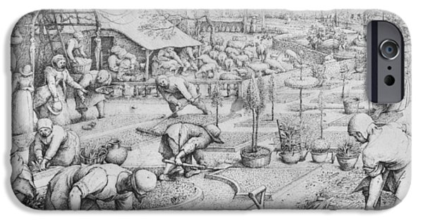 Works Drawings iPhone Cases - Spring iPhone Case by Pieter the Elder Bruegel