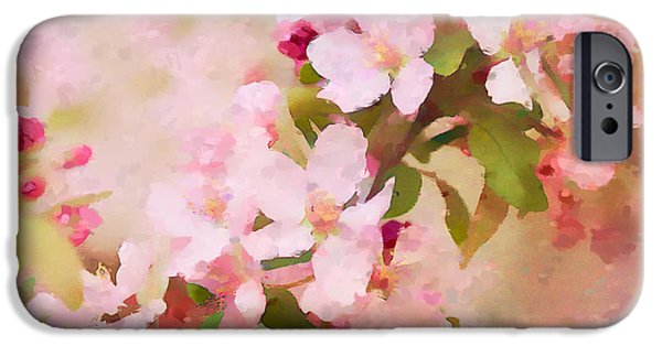 Rosaceae iPhone Cases - Spring Pink iPhone Case by Betty LaRue