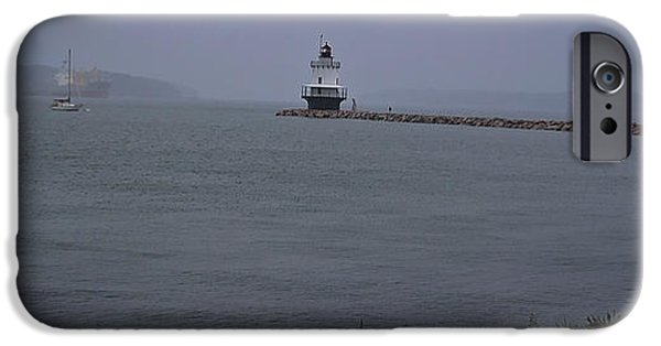 Ledge iPhone Cases - Spring Point Ledge Light iPhone Case by Deborah Klubertanz