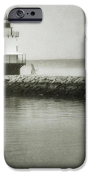 Spring Point Ledge Light iPhone Case by Joan Carroll