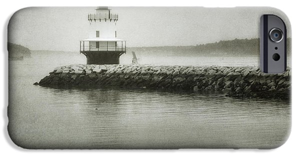 Ledge iPhone Cases - Spring Point Ledge Light iPhone Case by Joan Carroll