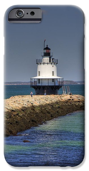 Best Sellers -  - Ledge iPhone Cases - Spring Point Ledge Light iPhone Case by Joann Vitali