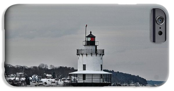 Winter In Maine iPhone Cases - Spring Point Ledge Light_9969 iPhone Case by Joseph Marquis